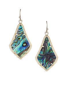 Kendra Scott Abalone Shell Gold Alex Drop Earring - Holly & Brooks #shophollyandbrooks #kendrascott #beachvibes #earrings