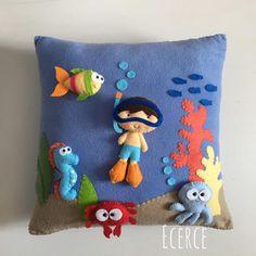 pillow handmade Baby pillow water world, personalized baby pillow, decorat. pillow handmade Baby pillow water world, personalized baby pillow, decorative pillow. Handgemachtes Baby, Felt Baby, Baby Pillows, Throw Pillows, Decor Pillows, Felt Pillow, Sewing Pillows, Boho Nursery, How To Make Pillows