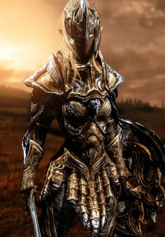 A female Elven Warrior in full heavy Glass armor with a protective mask against the harsh weathers of Skyrim. A visually updated version of my various Elven Soldiers of the Elven Empire. She is a m...
