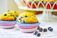 Banana Blueberry Muffins by Full Fork Ahead, via Flickr
