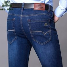 28.98$  Buy now - http://alickj.shopchina.info/go.php?t=32779539406 - AFS JEEP 2017 Brand Men's Jeans Pant Slim Fit Casual Fashion Spring Fall Male Denim Overalls bermuda jeans masculina Denim Pant  #buyonline