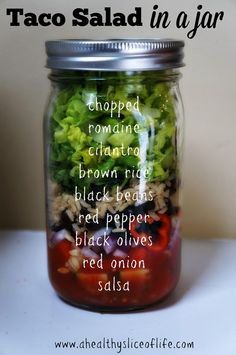 taco salad in a jar for the week