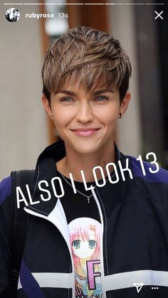 Edgy Short Hair, Short Hair Undercut, Short Pixie Haircuts, Undercut Hairstyles, Short Hair Cuts For Women, Short Bob Hairstyles, Short Hair Styles, Ruby Rose Hair, Pixie Cut Blond