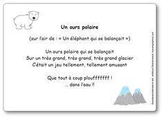 Comptine Un ours polaire... qui se balançait Winter Activities, Activities For Kids, Daycare Themes, Penguins And Polar Bears, Polar Animals, Bear Theme, World Languages, In Kindergarten, Continents