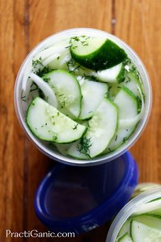 PractiGanic: Vegetarian Recipes and Organic Living: How to Freeze Cucumbers - Cucumber Salad