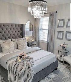 The Fundamentals of Elegant Grey Bedroom Decor Revealed - myriadinspira Gray Bedroom, Home Decor Bedroom, Bedroom Curtains, Trendy Bedroom, Bedroom Ideas Grey, Decor Room, Grey Bedroom Furniture, Mirror Furniture, Gray Bedding