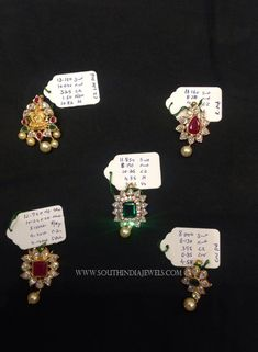 Gold Stone Pendants For Chains, Latest Model Gold Pendant For Chains Jewelry Design Earrings, Gold Earrings Designs, Gold Jewelry, Jewellery Designs, Wedding Jewelry, Gold Pendent, Pendant Design, Stone Pendants, South India
