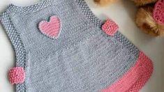 Pirinç Örnekli Kalp Süslemeli Kolay Çocuk Jile Yapımı. 1 .2 yaş – Örgü resimli anlatımlı örgü sitesi Baby Knitting Patterns, Diy And Crafts, Sweaters, Fashion, Jackets, Pattern, Tricot, Moda, Fashion Styles