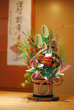 Japanese New Year ❤️ Japanese New Year, Chinese New Year, New Years Decorations, Flower Decorations, Ikebana, Japanese Culture, Japanese Art, New Years Traditions, Art Asiatique