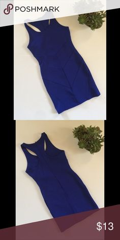 Foreign exchange royal blue dress Royal blue bodycon dress with zipper in the back. Comfortable dress for a night out on the town. Foreign Exchange Dresses Mini