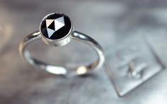 Handgemachte Engagement Diamond Ring  Black von ChincharMaloney, $777.00
