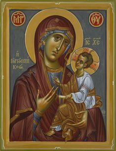 Expozitie 2019 - Lucrari Byzantine Icons, Byzantine Art, Orthodox Christianity, Blessed Virgin Mary, Orthodox Icons, Fresco, Doa, Painting, Fictional Characters