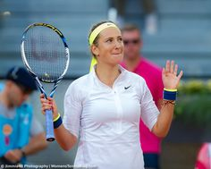 Azarenka's happy and humble look during her victory over Venus Williams in Madrid #MMOPEN15