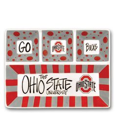 Ohio State Buckeyes Four-Section Platter