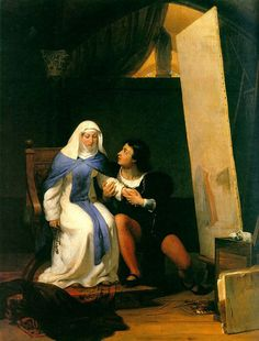 Fra Filippo Lippi Falling in Love with his Model by Paul Delaroche