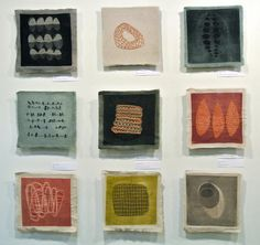 art from group show eleanor anderson Collage Kunst, Collage Art, Textiles Sketchbook, Textile Sculpture, Stitch Book, Visual Texture, Art Graphique, Small Art, Mark Making
