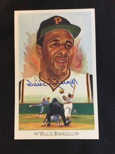 Willie Stargell Autographed Perez-Steele Postcard Guaranteed Authentic #PerezSteele #PittsburghPirates