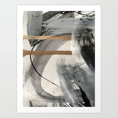White Canvas Art, Black And White Canvas, White Art, Abstract Canvas, Painting Canvas, Black Abstract, White Gold, Modern Art Movements, Black And White Posters