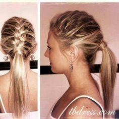 Bridesmaid ponytail idea