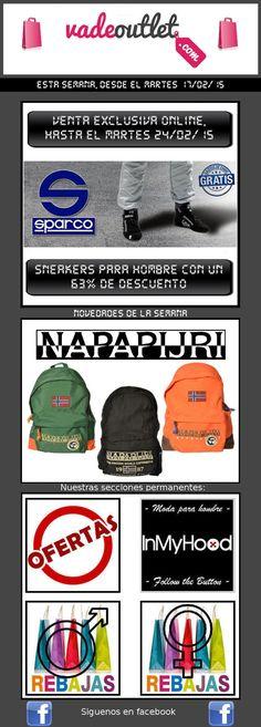 Actualidad Vadeoutlet  http://www.unabuenarecomendacion.com/index.php/complementos-y-regalos/ropa-y-calzado/5451-sparco-y-napapijri-en-vadeoutlet