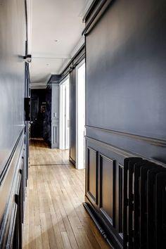 Decoration: the corridors that are part of the decor - Côté Maison Renovation Paris, Loft, Good House, Corridor, Minimalism, Stairs, Interior Design, Wall, Home Decor