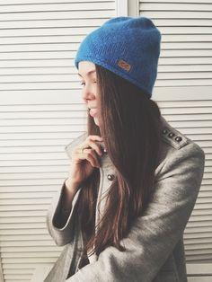 Hand knit cashmere hat