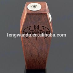 Wood Vampire Box Mod vape full 26650 mechanical mod Battery advken Vampire coffin mods