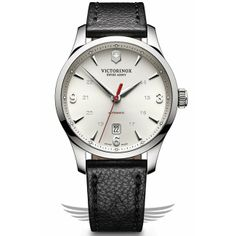 Victorinox Swiss Army Alliance Mechanical 40mm Leather Strap Silver Dial Automatic Watch 241666 - #OCWatchCompany #SwissArmy #WatchStore #WalnutCreek