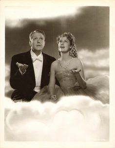 "Jeanette MacDonald and Nelson Eddy - ""Up in the clouds"" Promo still for the film I Married An Angel (1942) by famous MGM photographer Clarence S. Bull - ESCANO COLLECTION"