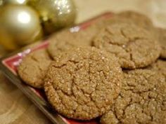 My grandma has been making these ginger cookies at Christmas time for as long as I can remember!  I added my own twist by rolling them in turbinado sugar for extra holiday flair and a nice crunch.
