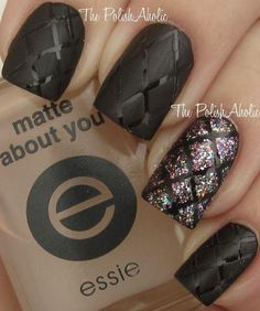Quilted Nails with matte finish Get Nails, Fancy Nails, Love Nails, How To Do Nails, Hair And Nails, Fabulous Nails, Gorgeous Nails, Pretty Nails, Nails Polish