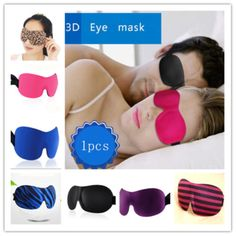 3D Sleeping Travel Aid Blindfold Eye Mask Shield Rest Sleep Shade Cover Eyepatch