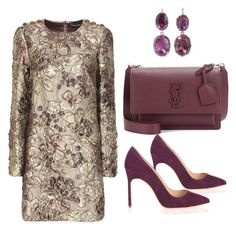"""""""purple"""" by serafinna on Polyvore featuring Dolce&Gabbana, Yves Saint Laurent, Manolo Blahnik and Fred Leighton"""