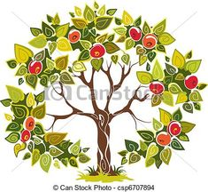 Fruitful apple tree   #Dekorative#Tree#curly