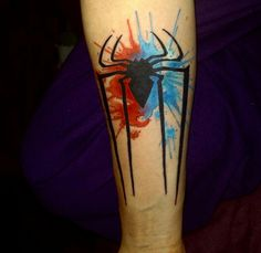 My Spiderman Tattoo Done by Josh Avery, Loyalty Tattoo, Utah.