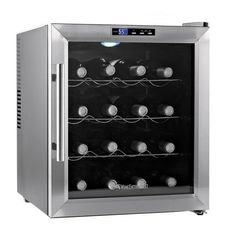 The Silent 16-bottle wine refrigerator protects the taste of reds and whites with a virtually silent cooling. Offering classic, complementary styling for your home, this cooler features a Thermopane g