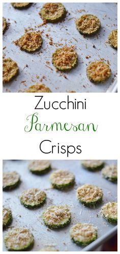 The Art of Comfort Baking: Zucchini Parmesan Crisps. These are SO yummy my husband and I ate them right off the baking sheet! I didn't even get a chance to plate them...