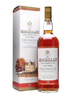 Macallan 10 Year Old / Cask Strength / Speyside Single Malt Scotch Whisky Macallan Whisky, Speyside Whisky, Scotch Whiskey, Bourbon Whiskey, Single Malt Whisky, 10 Year Old, Fun Drinks, Whiskey Bottle, Strength