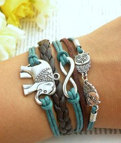Hey, I found this really awesome Etsy listing at https://www.etsy.com/listing/198208870/elephant-bracelet-infinity-bracelet