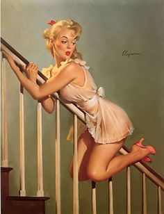 Gil Elvgren - ook Out Below (Easy Does It)