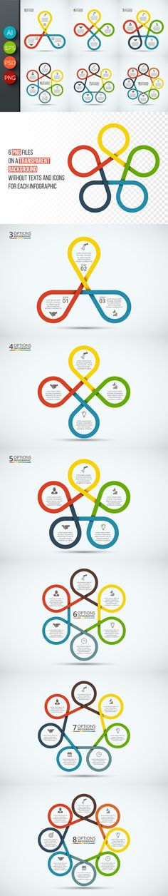 Infographics template set