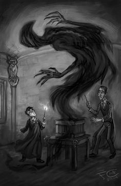 Patronus Practice with Harry, Professor Lupin, and a Dementor shaped boggart for Wizarding Wednesday's topic Dementor. by Felicia Cano's Blog
