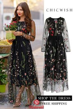 Floral Embroidered Mesh Maxi Dress 2019 clothing clothing labels clothing patches clothing wholesale flower clothing fly shirts shirts for ladies shirts sunshine coast style clothing tee shirts clothing Sommer Garten Hochzeits Kleider Elegant Dresses, Pretty Dresses, Beautiful Dresses, Modest Formal Dresses, Mode Outfits, Chic Outfits, Dress Outfits, Clothes For Women In 30's, Lace Dress