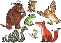 Other Kids' Clothing & Accs. The Gruffalo Mouse Owl Sticker Wall Decal Or Iron On Heat Transfer Tshirt Lot Gr Gruffalo Party, Gruffalo Activities, Toddler Activities, Literacy Activities, Gruffalo Characters, Gruffalo's Child, Story Sack, Room On The Broom, Animals