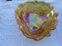 Vintage Deko - Carnival Schale Glasschale - ein Designerstück von Sophie-Dumont bei DaWanda