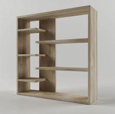 homestar 6 shelf storage bookcase 3d model max obj 3ds fbx stl mtl 3