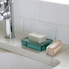 Recycled Glass Soap Dish   Hjem og hage   Grace & Glory Home