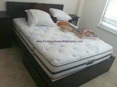 ikea malm bed assembled in springfield va by Furniture assembly experts LLC - call (202) 787-1978