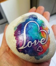 Love Painted Rock For Valentine Decorations Ideas 47