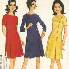 On the hunt for a pattern with twin inverted pleats for a sew-along with @No Pattern Required (This is McCall's 9163, ©1968)